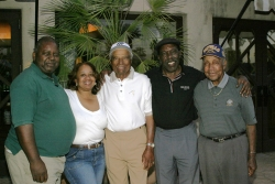LR- Knowles, Gould, Duhon, Peete & Julious Richardson at AAGHOF 06